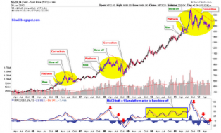 Biiwii TA and Commentary: Rise, Platform, Blow Off, Correction: Au is Fine