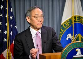 U.S. Secretary of Energy Steven Chu during an online town hall to discuss President Obama's clean energy and innovation agenda o
