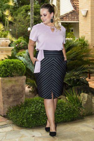 Blusa em crepe Moda Plus Size , moda evangelica, moda plus size, coimbra, roupas feminina
