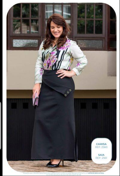2560 – Camisa Plus Size Evangélica em Viscose modal