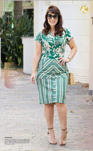 Vestido Plus Size em Linho Moda Evangélica Feminina