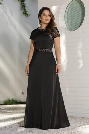 Vestido longo crepe Moda Evangélica Feminina Online