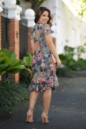 Vestido Malha Canelada Loja Moda Evangélica Online