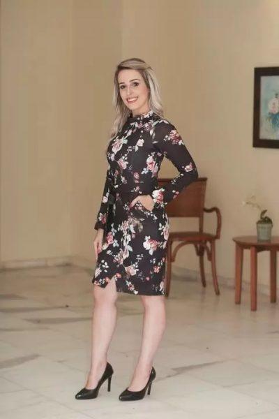 Vestido Joyaly Gola Alta Floral