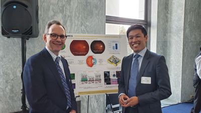Research to Prevent Blindness (RPB) President Brian Hofland, PhD with Ian Han, MD (University of Iowa)