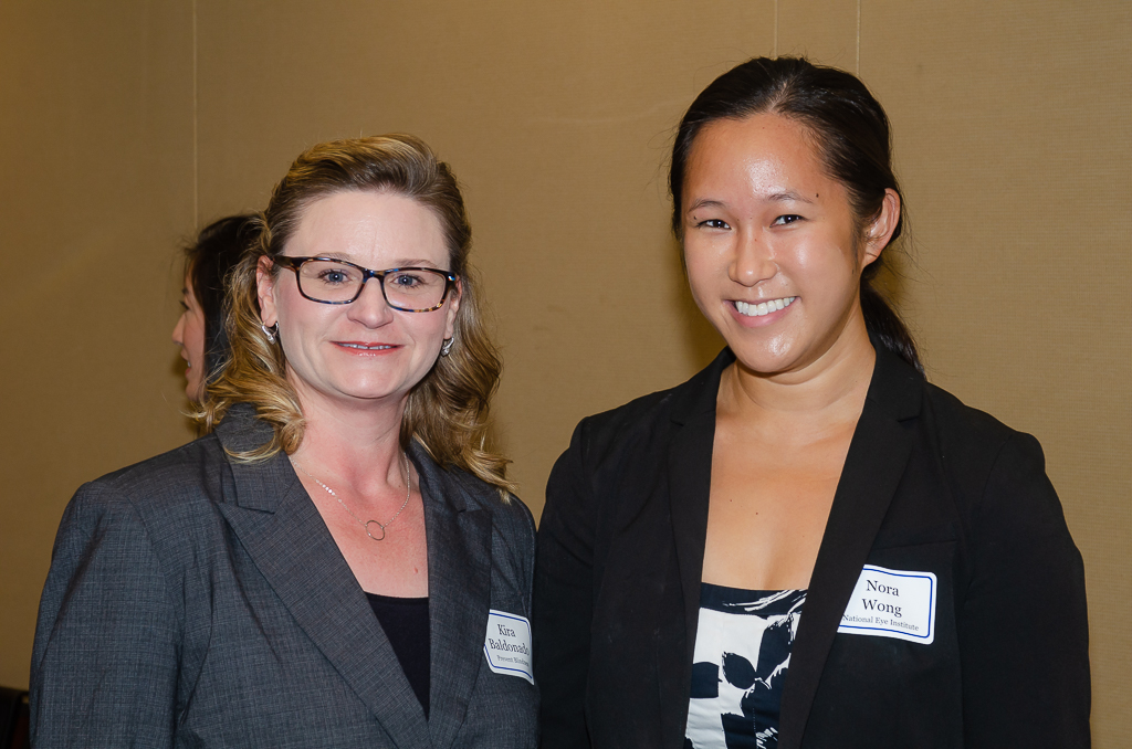 Kira Baldonado (Prevent Blindness) and Nora Wong, MPH, a new Health Science Policy Analyst in the NEI's Office of Program Planning and Analysis