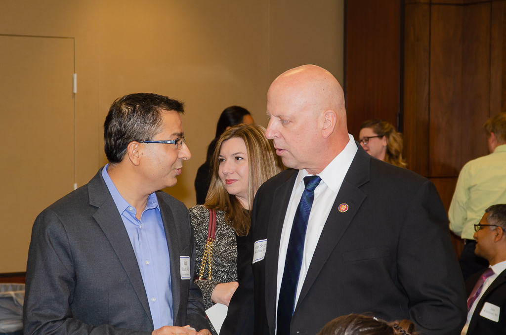 Dr. Bharti speaks with Cong. Scott DesJarlais, MD (R-TN), a physician who attended the briefing