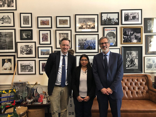 From left: Thomas Dorney, office of Cong. John Lewis (D-GA), Salma Ferdous, BS (Emory University) and Ross Ethier, PhD (Georgia Institute of Technology)