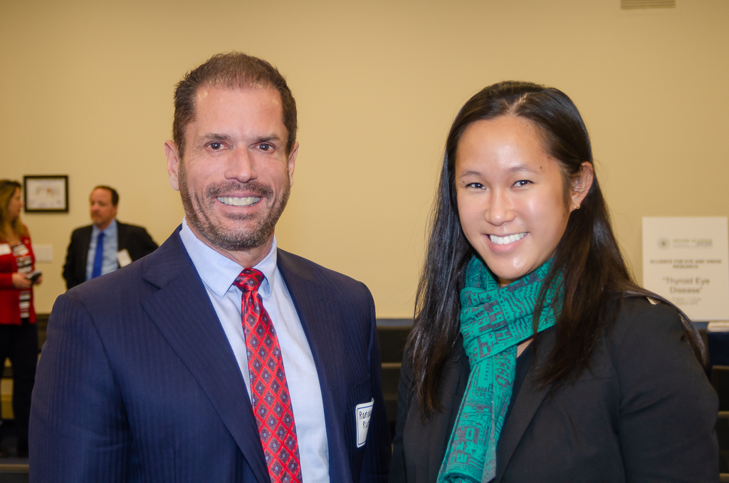 Randall Rutta of the American Autoimmune Related Diseases Association with Nora Wong, MPH of the National Eye Institute