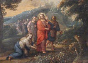 La curación de la hemorroísa - Catedral de Almería (España)