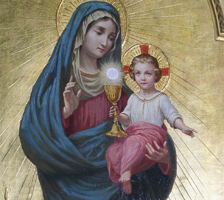 Nuestra Señora del Santísimo Sacramento - Iglesia de San Claudio y San Andrés de los Borgoñones, Roma