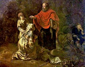El profeta Eliseo y la mujer sunamita – Museo Nacional de Varsovia (Polonia)