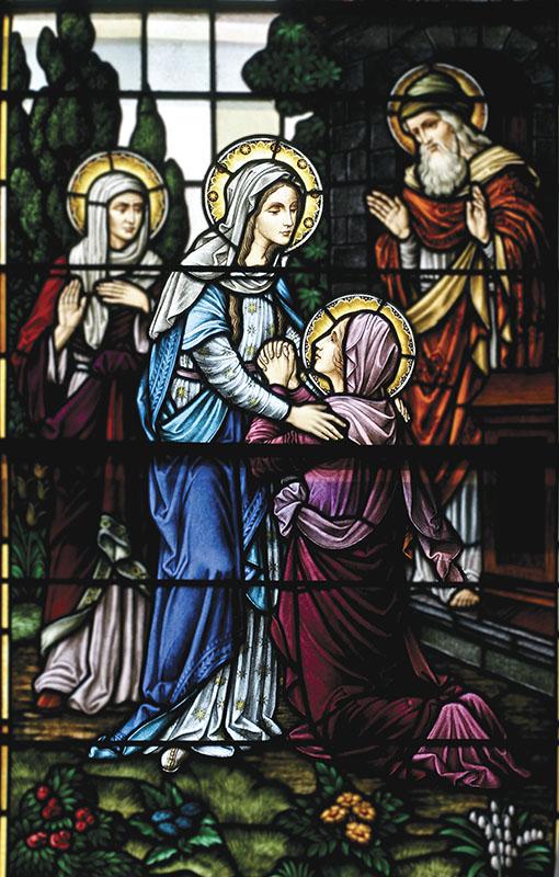 Visitação de Maria a sua prima Santa Isabel – Igreja do Sagrado Coração, New Orleans (USA)