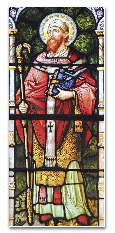 San Bonifacio - Vitral de la iglesia de Nuestra Señora del Perpetuo Socorro y San Alfonso, Montevideo