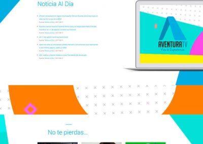 aventuratv diseño web - aventuratv 400x284 - Diseño Web
