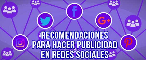 Recomendaciones para hacer publicidad en redes sociales