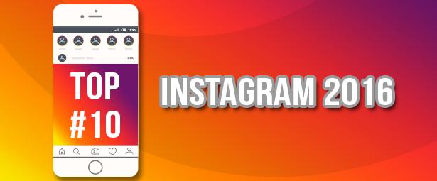 10 cuentas de Instagram con más seguidores y 10 contenidos con más likes durante el 2016