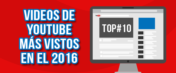 10 videos más vistos de Youtube durante el 2016