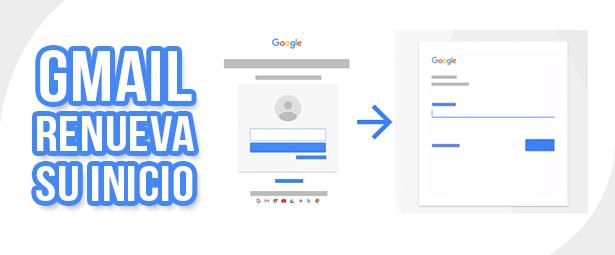 Google renueva su página para iniciar sesión en Gmail