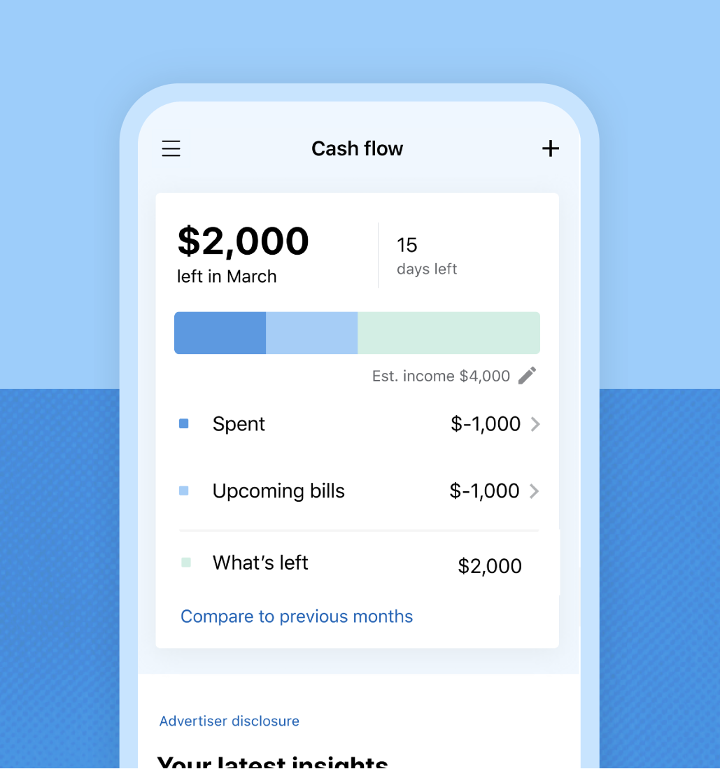 All your spending from all your accounts — all at a glance.