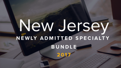 New Jersey Newly Admitted Specialty Bundle