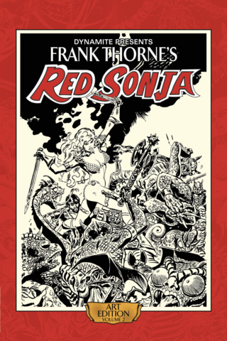 Frank Thorne's Red Sonja Art Book Vol #2