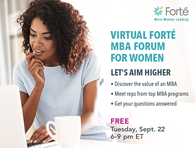 Virtual Forté MBA Forum Banner