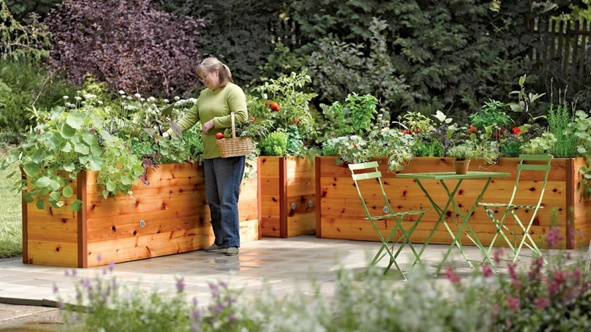 Headline Modern Raised Bed Garden
