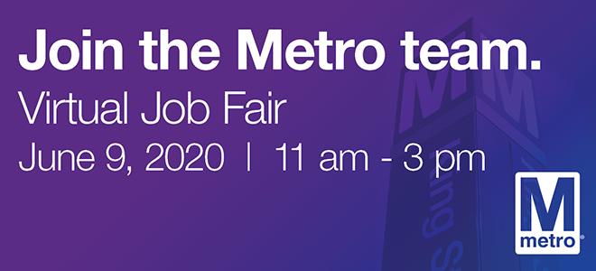 Washington Metropolitan Area Transit Authority Virtual Career Fair Banner