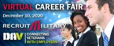 Houston Virtual Career Fair for Veterans Banner