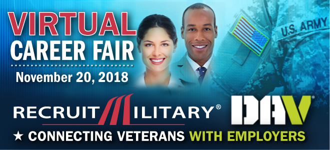 National Virtual Career Fair for Veterans Banner