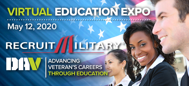 RecruitMilitary Virtual Education Expo Banner