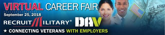 Eastern Region Virtual Career Fair for Veterans Banner