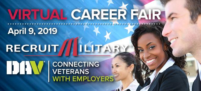 Eastern Region Virtual Career Fair for Veterans Banner