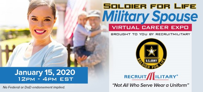 Military Spouse Virtual Career Expo Banner