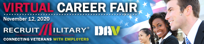 Southern California Virtual Career Fair for Veterans Banner