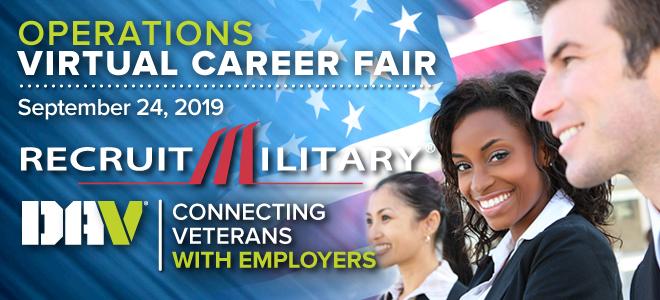 Operations Virtual Career Fair for Veterans Banner