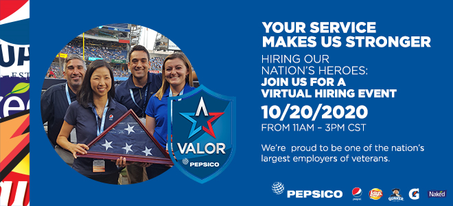 PepsiCo Virtual Career Fair for Veterans Banner