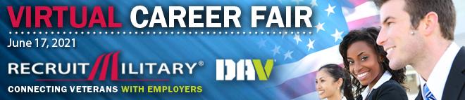 Boston Virtual Career Fair for Veterans  Banner