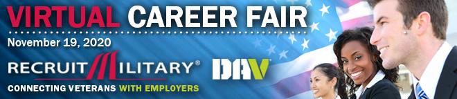Jacksonville Virtual Career Fair for Veterans Banner