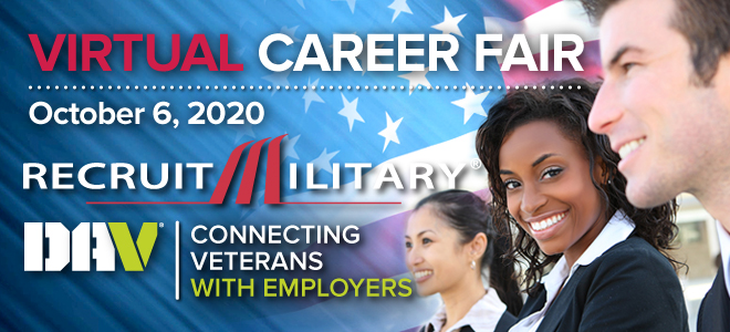 Central Region Virtual Career Fair for Veterans Banner