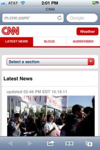 CNN Mobile Website