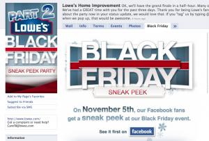 Lowes Black Friday Marketing