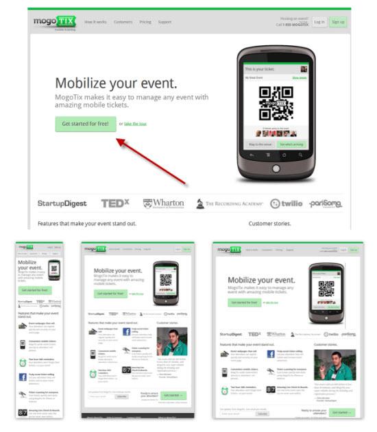 Mogo Tix Responsive Web Design