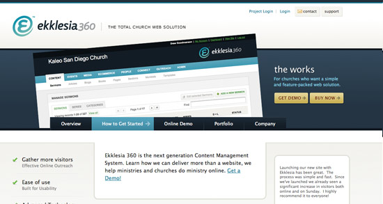 Ekklesia Website Header