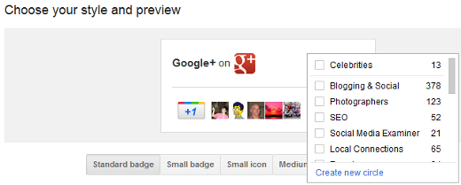 google badge in action