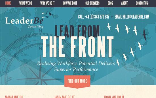 Website Font for Leader Be