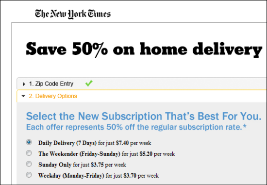 New York Times Pricing Strategy