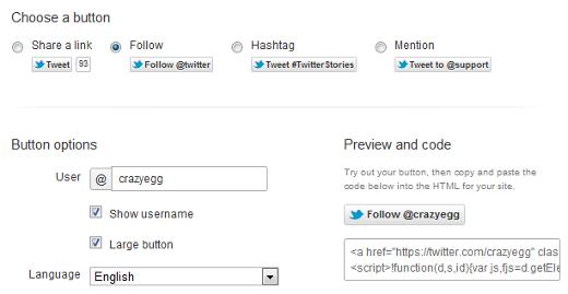 twitter follow button code