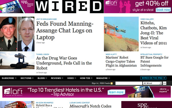 Wired Magazine Website Fonts